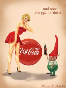 coca cola pinup girl - wizerunek firmy