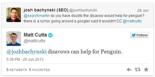Matt Cutts potwierdza Disavow Tool moze pomoc w walce z Pingwinem